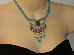 ETHNIC INSPIREDBlue turquoise Southwest jewelry by powerofgems, $38.95