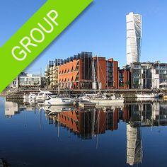 Tour en la ciudad de Malmö a partir de 24 € (grupo de 20 pax) New York Skyline, City, Travel, European Travel, Cruises, Sweden, Group, Cities, Viajes