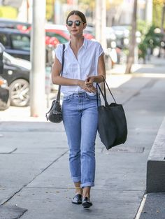 There's something I just love about a crisp white blouse, it's timeless, easy to style and the lightweight fabric is perfect for warmer months. Lily Aldridge styled the closet staple with a pair of ...