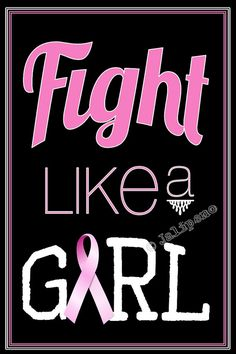Fight Like a Girl 4x6 Print INSTANT DOWNLOAD by Jalipeno, $4.00 - Printable Quote Gift Wall Art Office Home Decor Breast Cancer Awareness Pink Ribbon