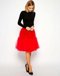 Modest tulle midi skirt | Mode-sty #nolayering
