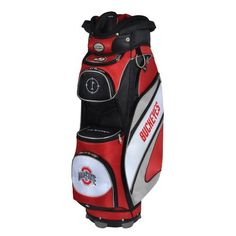 NCAA Ohio State Buckeyes The Bucket Cooler Cart Bag by Team Effort. $199.90. Vibrant collegiate colors and five embroidered collegiate trademarks enable you to prominently display your support for your favorite university The Bucket Cooler Cart Bag features eight forward facing strategically placed zipper pockets-including The Bucket cooler pocket, a velour lined water-resistant valuables pocket, range finder pocket, dual apparel pockets, two accessory pockets, a...