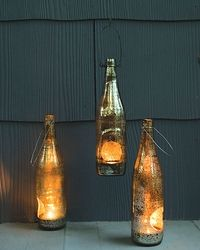 repurposed bottle lanterns