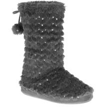 Walmart: Women's Gorgi Sequin Bootie Slipper...$12.97