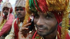 Blessings are the best kind of gifts, even when they are through the phone: Mobile phones connect the rural India to the cities.   www.indipin.com #indipin