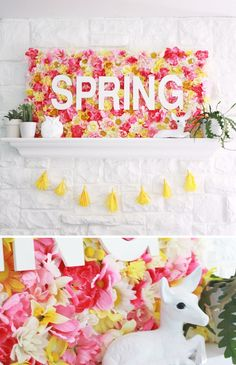 Spring Wallflowers Sign