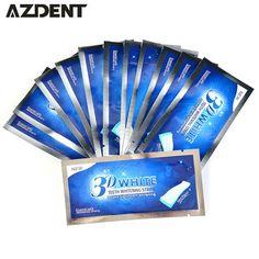 [Visit to Buy] Teeth Bleaching Dental Product Oral Hygiene Ultra White 3D Advanced Teeth Whitening Strips Gel Care 14Pair Dental Tooth Whitener #Advertisement