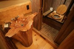 Awesome bathroom for a cabin - Imgur