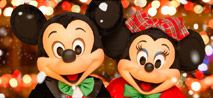 Walt Disney World - Thanksgiving weekend when they are dressed for  Mickey's Very Merry Christmas