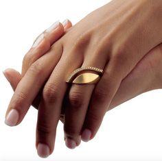 ORRO Contemporary Jewellery Glasgow - Angela Hubel - Gold Diamond Eye Ring - brilliant cut diamonds - 18ct yellow gold - Diamond Eye Ring