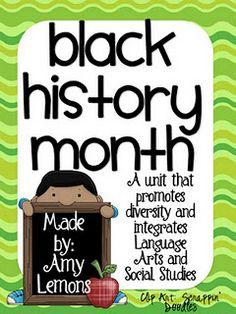 Black Hisory Month Unit (not free); for older kids