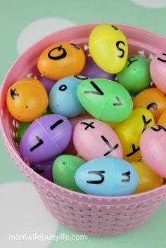 Easter Egg Letter Matching Game