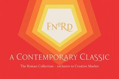 Fnord Roman Collection by Paulo Goode on @creativemarket