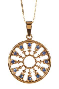 Blue Sapphire Filigree Pendant Necklace on @HauteLook