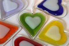 Fused Glass Heart - Medium £12.00