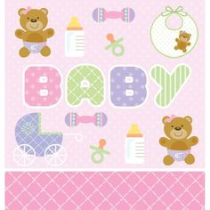 Creative Converting Baby Shower Teddy Baby Pink Border Print Plastic Table Cover 54 by 108Inch ** Read more  at the image link.  This link participates in Amazon Service LLC Associates Program, a program designed to let participant earn advertising fees by advertising and linking to Amazon.com.