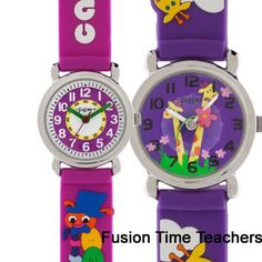 Our time teacher watches are full of fun and whimsy and helps the little ones going back to school tell time easier!  Pick a couple up for your youngsters! $12.95