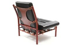 Stunning Arne Norell Leather Lounge Chair | From a unique collection of antique and modern lounge chairs at http://www.1stdibs.com/furniture/seating/lounge-chairs/