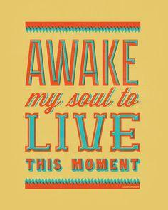 16x20 & 8x10 Printable: Lyrics to Awake My Soul
