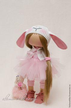 Купить Девочка-овечка - кремовый, розовый, молочный, белый, кукла, Новый Год, овечка