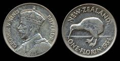 1 Florin coin from New Zealand