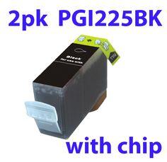 2pk compatible ink catridge visible for Canon PGI225BK Canon Pixma MG5220 6220 8120 IP4820