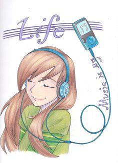 Music is my Life by LOZ-Elisrilianfan.deviantart.com on @deviantART