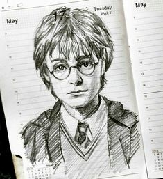 potter harry drawing drawings things sketch planner draw artwork sketches pencil did line charcoal easy reddit kunst cartoon face dibujos