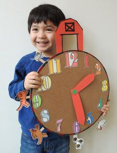 Go beyond Hickory Dickory Dock with this clever crank clock! Turn the handle and watch the animals dash through the big red barn!