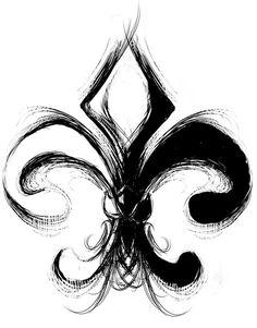 flor de lis tatuaje tribal - Buscar con Google                                                                                                                                                      Más