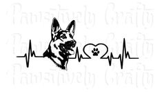 German Shepherd Heartbeat Lifeline Vinyl Decal/Paw Print Heart Decal/Dog Breed Decal/German Shepherd Decal/Heartbeat Decal/GSD Decal/ __________________________________________________________________________________________  This cute vinyl decal is perfect for a German Shepherd lover! It has a heartbeat and within the lifeline is the German Shepherd head and a heart made out of the line with a paw print inside of that heart. You will receive the decal with tran...
