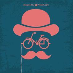 #BikeéLegal ♥ #VáDeBike ☆ #Cartaz * Design Retro Bicicleta Moderno Retro