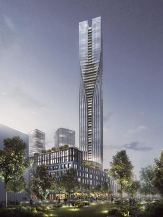 The Polestar Tower Reaches Dramatic New Heights for Gothenburg #skyscrapers #architecture trendhunter.com