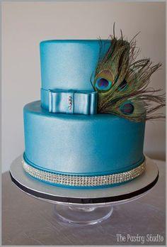 peacock cake@Deanza Tippetts