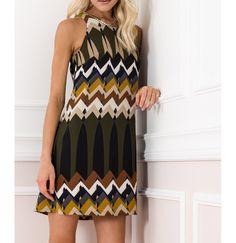 Mini φόρεμα τύπου aztec σε Α γραμμή.Δείτε το στο www.primadonna.com.gr