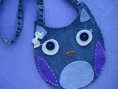 Craft Your Style: Recycled Denim Owl Purse Tutorial Jean Crafts, Denim Crafts, Owl Purse, Embroidery Bags, Denim Ideas, Purse Tutorial, Recycled Denim, Denim Bag, Purses And Bags