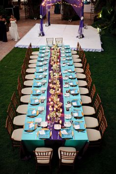 teal and purple weddings Same Sex Destination Wedding in Mexico - wedding tablescape