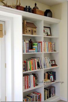 Pat's lodge bookshelves. Saving as inspiration to make some for the dinning/living wall.