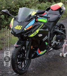 #Yamaha R3 Custom like R1 face