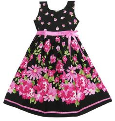 Girls Dress Hot Pink Flower Belt Party Kids Size 4-12, http://www.amazon.com/dp/B00A1G2DZS/ref=cm_sw_r_pi_awd_Kzi7rb0KKAHQY