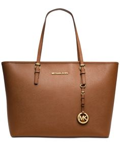 Michael Kors Jet Set Travel Top Zip Tote - in black or luggage color