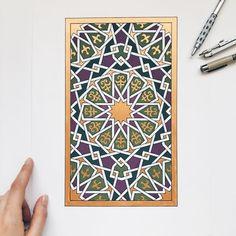 🎶yasmine hamdan-in kan fouadi🎶 aha aha aha ah aha ha aha aha aha ah aha h. Islamic Art Pattern, Arabic Pattern, Geometry Pattern, Pattern Art, Islamic Tiles, Islamic Decor, Islamic Wall Art, Geometric Art, Geometric Designs