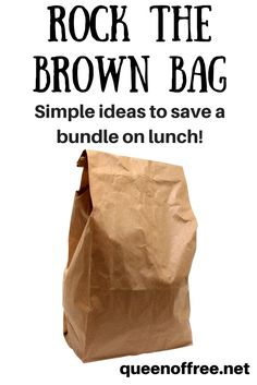 The lunch ideas are SO simple and yet will save me a bundle! I'm going to save this post for later so I don't forget.
