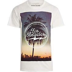 White LA print t-shirt - print t-shirts - t-shirts / vests - men