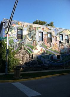 Mural on former Mifflin St. Coop Building in Madison WI