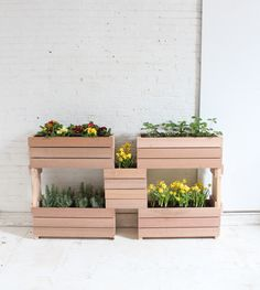Learn to make these stackable planters at free DIY workshops at a Home Depot near you!