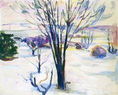 Snow by Edvard Munch