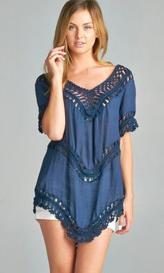 Tibbie Tunic in Navy