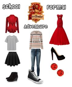 """""""Hogwarts"""" by laxgirl29 ❤ liked on Polyvore featuring Christian Louboutin, maurices, J Brand and Converse"""