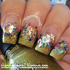 Happy 2014!! #Nailart #glitter #beautyblogger - bellashoot.com